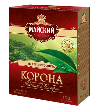 Чай Майский Корона Российской Империи 2г 100пак.