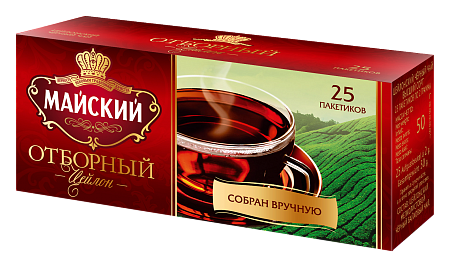 Чай Майский Черный пак. 2гр 200пак. (сашет)