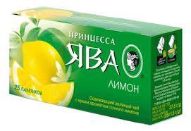 Чай Принцесса Ява ДАБЛ зеленый Лимон 1,5г 25пак.