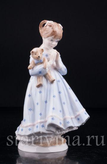 Изображение Девочка с медвежонком, Royal Worcester, Великобритания