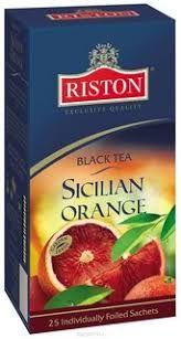 Чай Ристон Черный Сицилийский апельсин 1.5г конв 25пак.