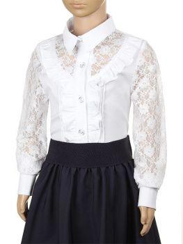 Блузка детская белая №2409