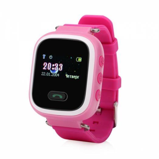 Smart часы детские с GPS GP-02 (розовые)