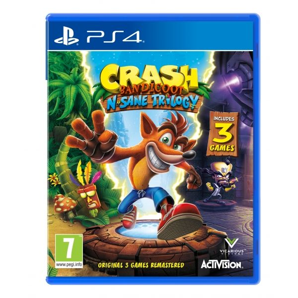 Игра Crash Bandicoot N'sane Trilogy (PS4)