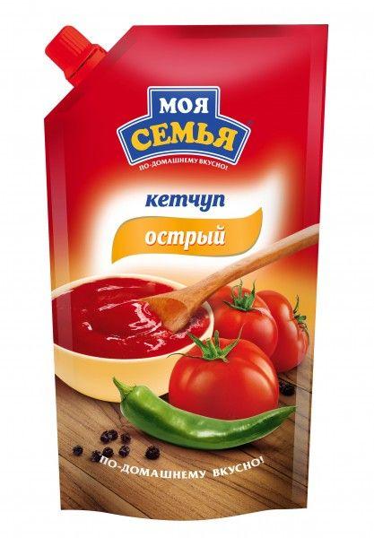Кетчуп Моя Семья Острый д/п 330гр