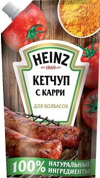 Кетчуп Хайнц Для колбасок на гриле д/п 350гр