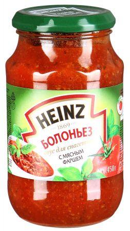 Соус Хайнц для спагетти Болоньез с мясным фаршем ст/б 450гр