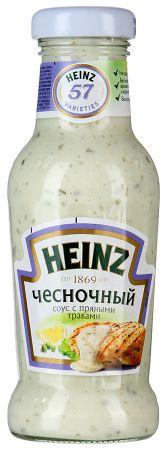 Соус Хайнц на основе раст.масел Чесночный с пряными травами ст/б 250гр
