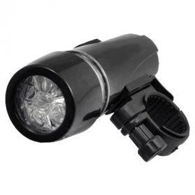 Велосипедный передний фонарь 5 LED 10 см Top Race