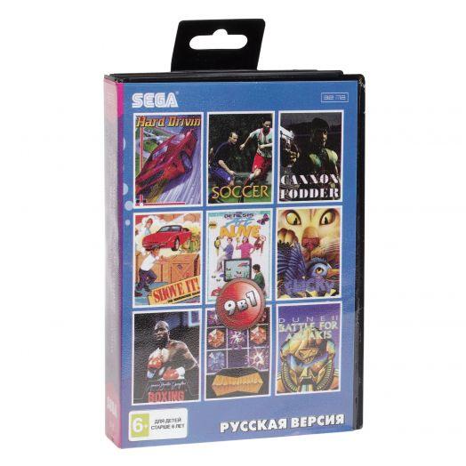 Sega картридж 9в1 (B-35) CANNON FODDER/DUNE/BOXING+..
