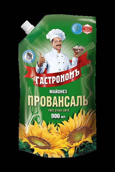 Майонез Провансаль Гастроном 67% 900мл (816гр) д/пак