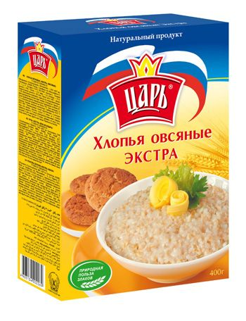 "Хлопья овсяные ""Экстра"" ""Царь"" 400г"