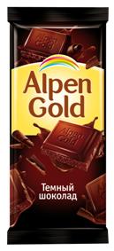 Алпен голд горький шоколад 90г