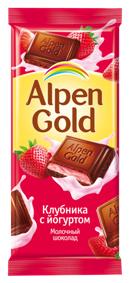 Алпен голд с клубнично-йогуртовой нач. 90г