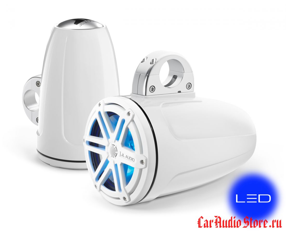JL Audio MX770-ETXv3-SG-WLD-B Sport White w/blue LED