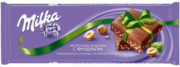Милка ш-д мол. с фундуком 90г
