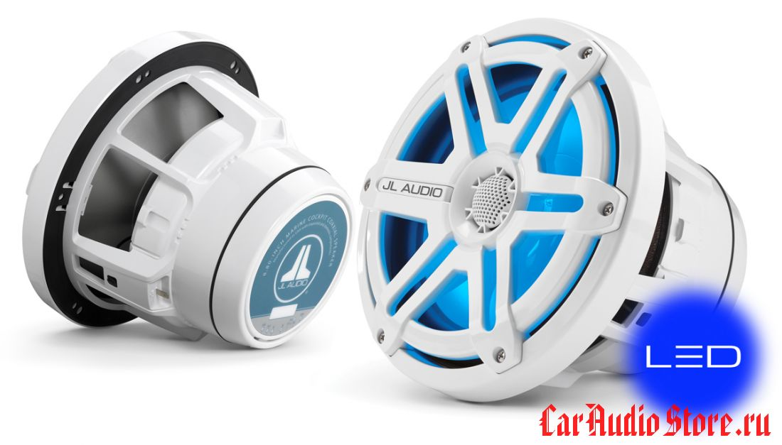 JL Audio M880-CCX-SG-WLD-B Sport White w/Blue LED