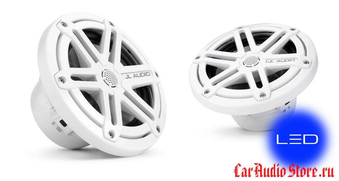 JL Audio MX650-CCX-SG-WLD-B Sport White w/blue LED