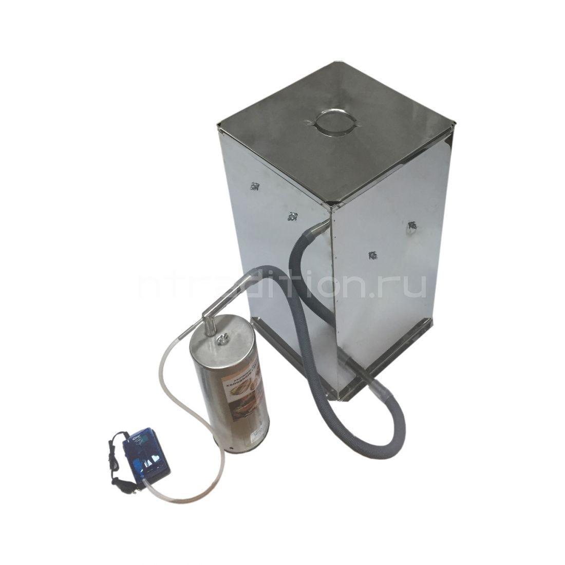 Коптильня холодного копчения Дым Дымыч, на 50 л, с дымогенератором (нерж)