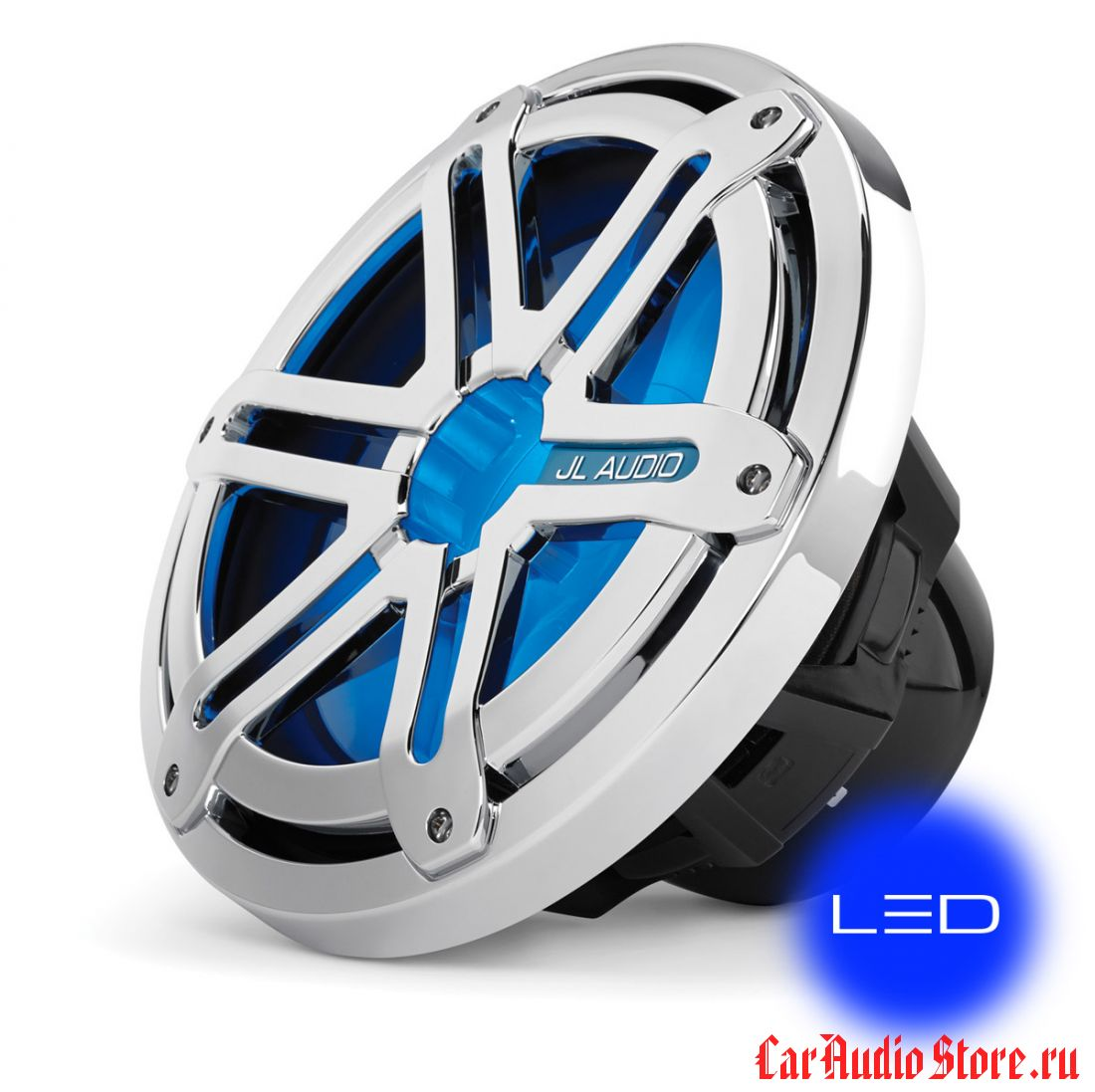 JL Audio MX10IB3-SG-CLD-B Sport Chrome w/blue LED
