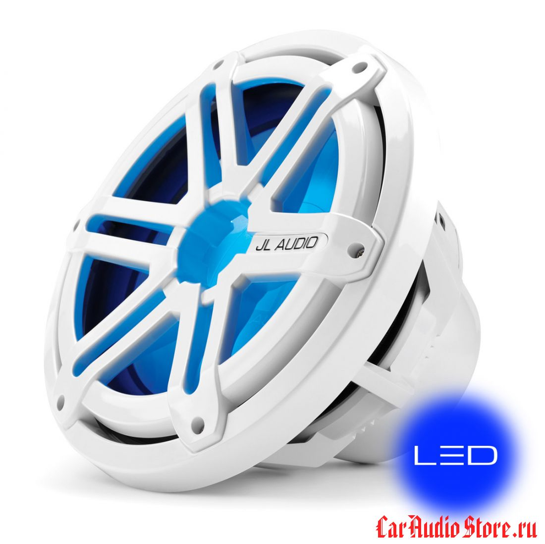 JL Audio MX10IB3-SG-WLD-B Sport White w/blue LED