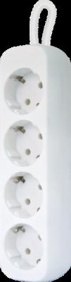 Удлинитель с заземлением E418 1.8 м, 4 розетки