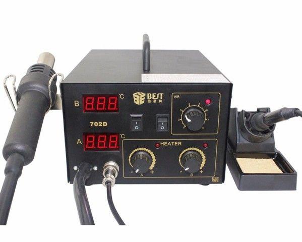 Термовоздушная паяльная станция 2 в 1: фен + паяльник Best-702D