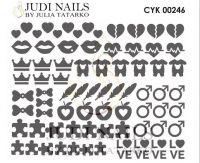 Трафарет Deep design для дизайна ногтей #246