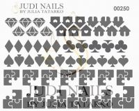 Трафарет Deep design для дизайна ногтей #250