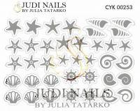Трафарет Deep design для дизайна ногтей #253