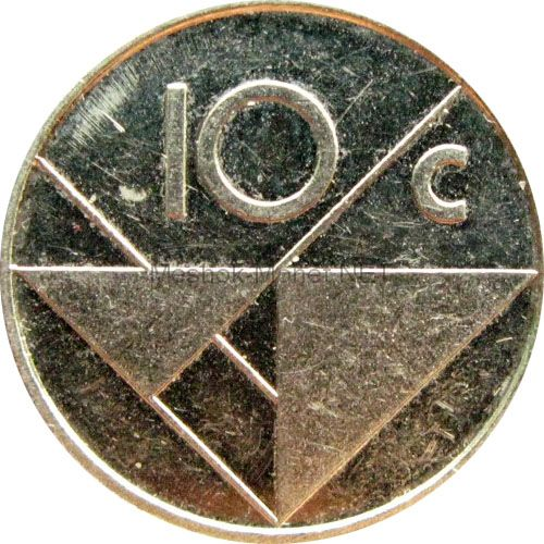 Аруба 10 центов 1990 г.