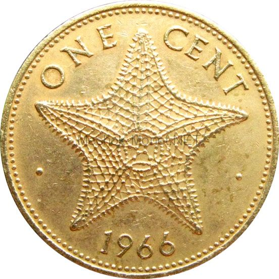 Багамские острова 1 цент 1972 г.