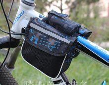 Сумка велосипедная на раму синяя