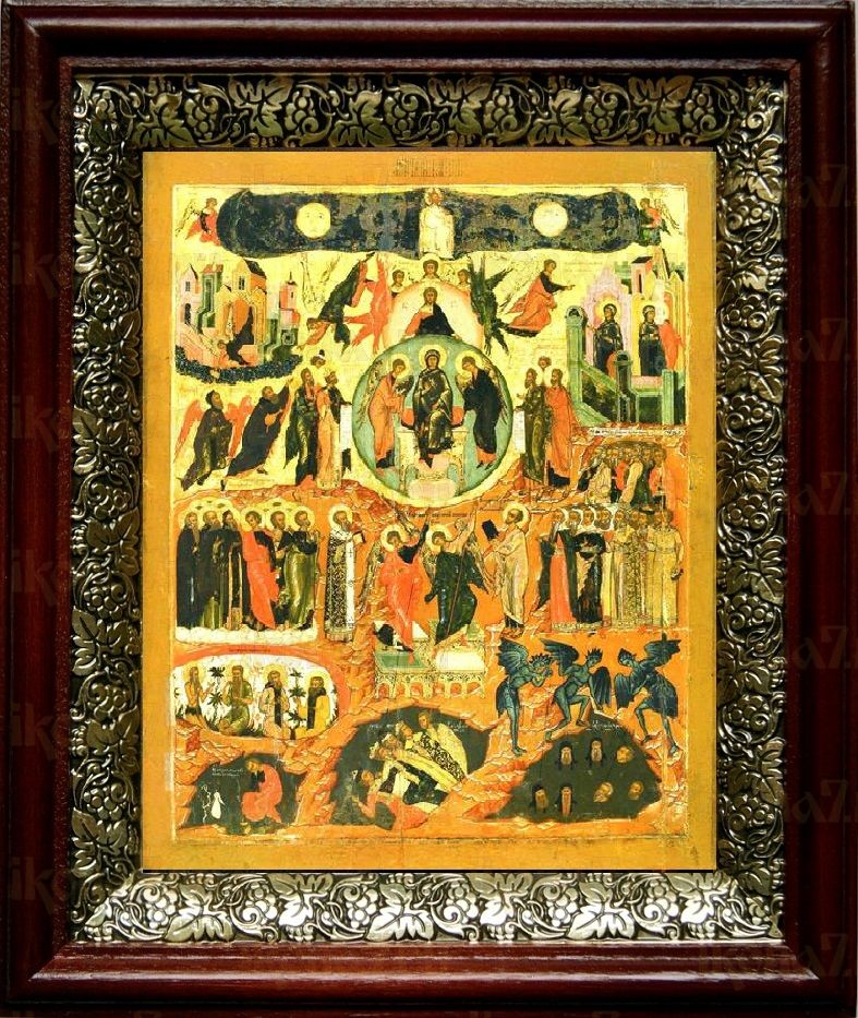 Вертоград Заключенный (19х22), темный киот