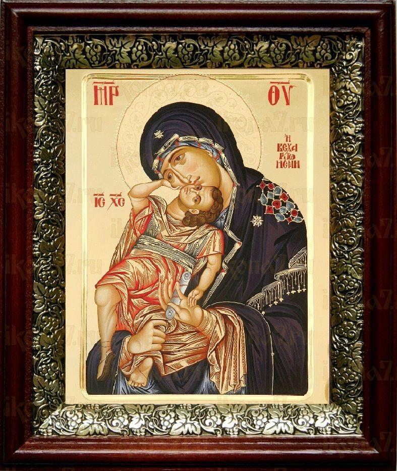 Взыграние Младенца (19х22), темный киот