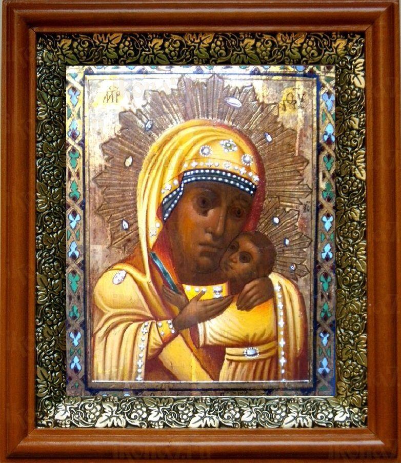 Горбаневская икона БМ (19х22), светлый киот