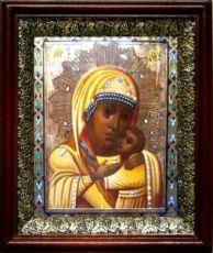 Горбаневская икона БМ (19х22), темный киот