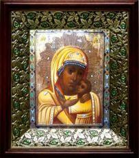 Горбаневская икона БМ (21х24), киот со стразами