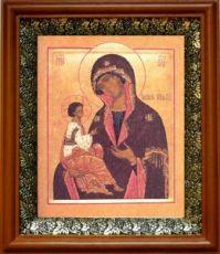 Гребневская икона БМ (19х22), светлый киот