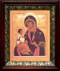 Гребневская икона БМ (19х22), темный киот