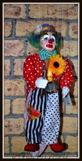 Кукла-марионетка Клоун Каспарек - Klaun Kasparek (Чехия, Praha, Hand Made, авторы  Ивета и Павел Новотные)