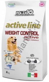 Forza10 (Форца10) Weight Control Active (для взрослых собак всех пород при диабете и ожирении, рыба) 4кг