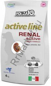 Forza10 (Форца10) Renal Active (для взрослых собак всех пород при болезнях почек, рыба) 4кг