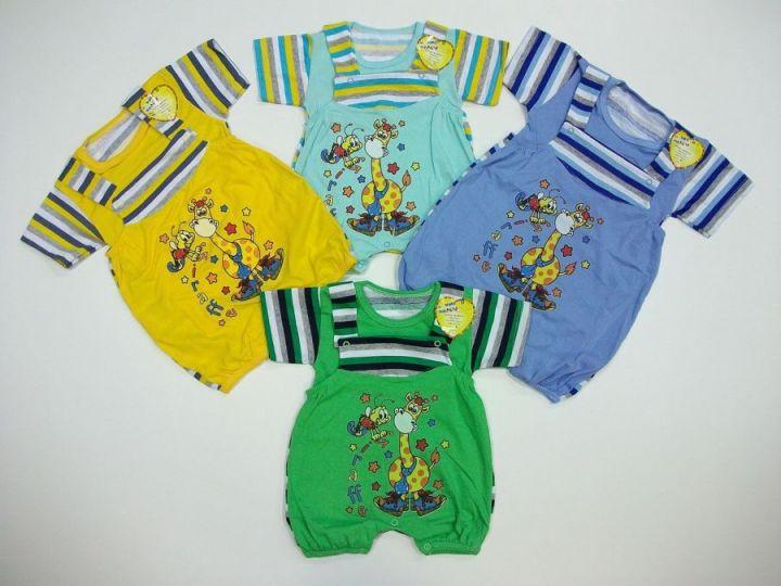 "Костюм ""Пчелка и Жираф""  (футболка, песочник)"