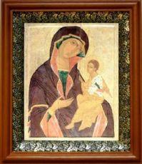 Грузинская икона БМ (19х22), светлый киот