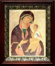 Грузинская икона БМ (19х22), темный киот