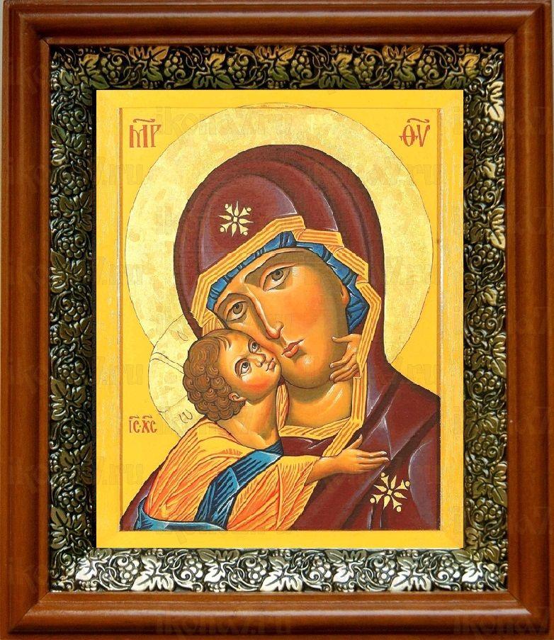 Десятинная икона БМ (19х22), светлый киот
