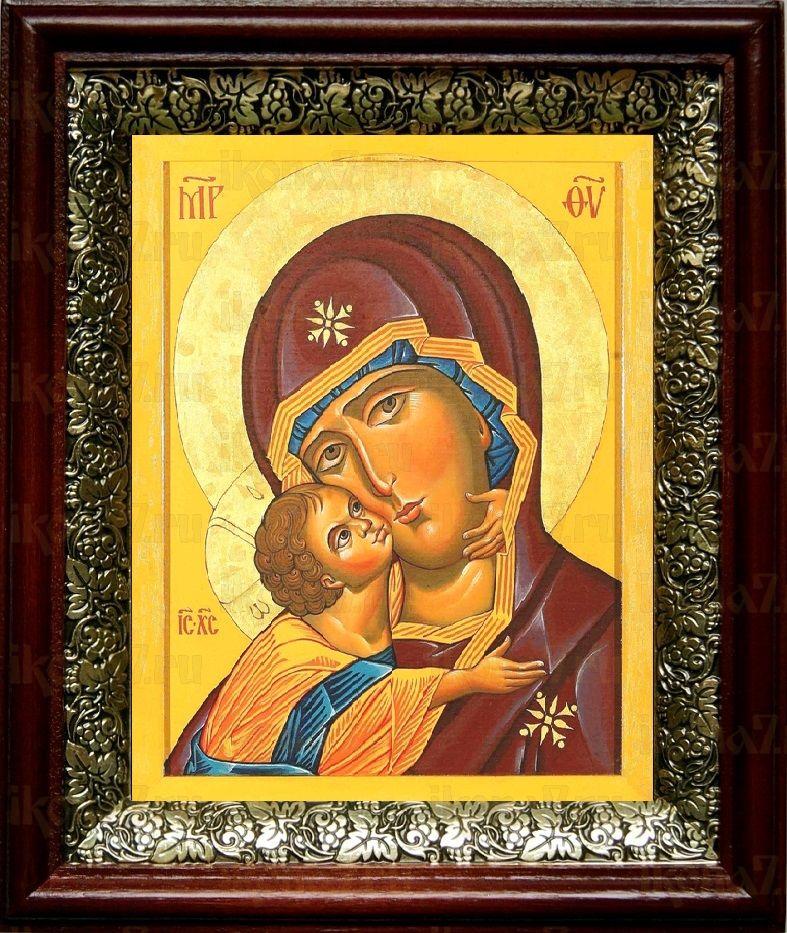 Десятинная икона БМ (19х22), темный киот