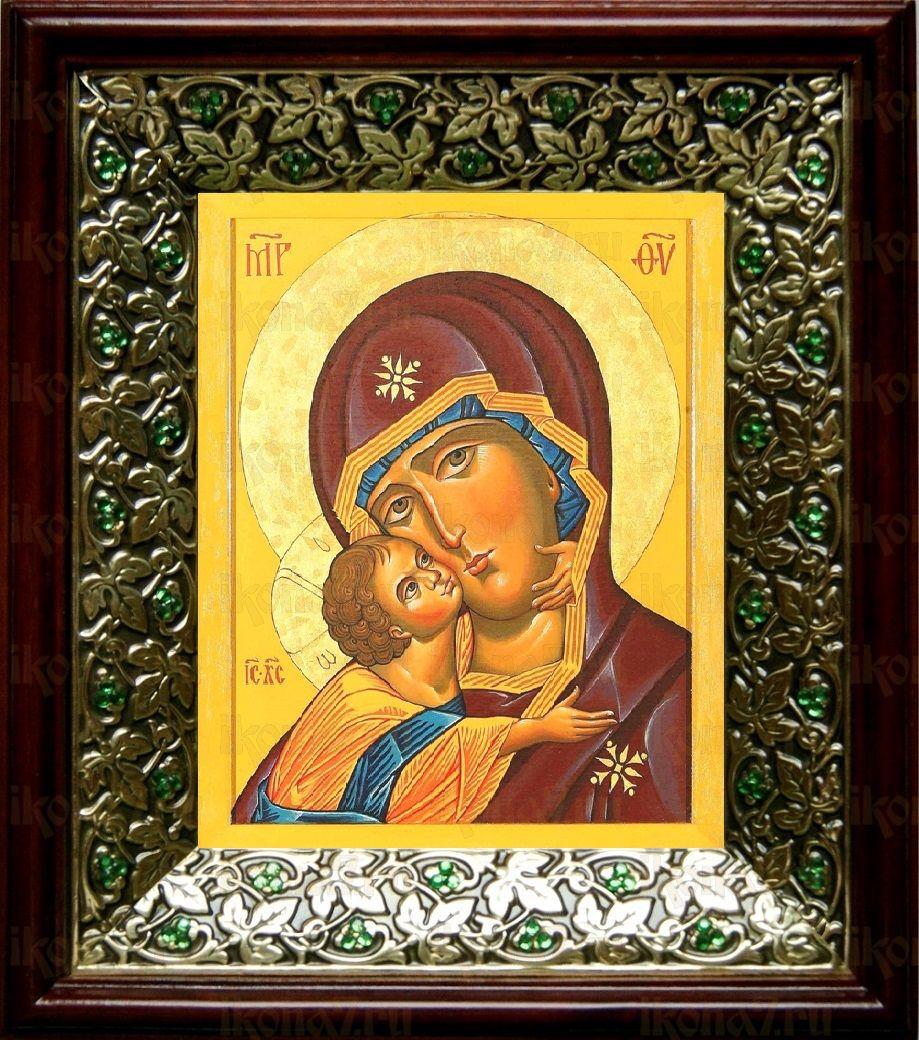 Десятинная икона БМ (21х24), киот со стразами