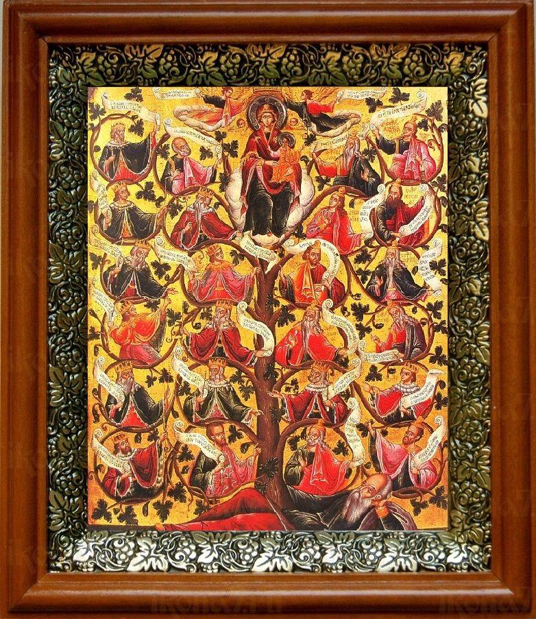 Древо Иессеево (19х22), светлый киот